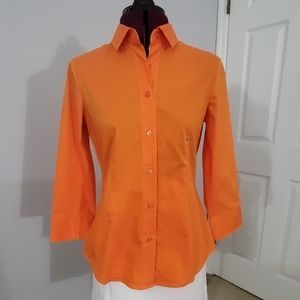 NWT NY&Co 3/4 sleeve button down shirt. Size  S